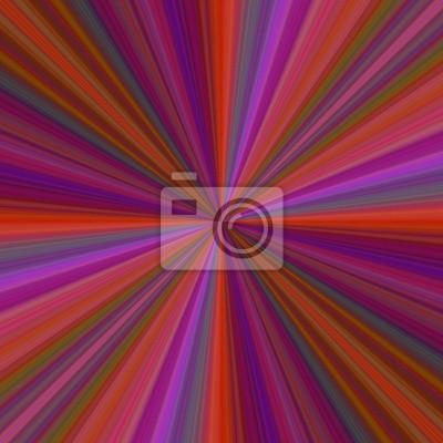 Bunte Strahl Burst Hintergrund Design