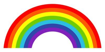 Bild Bunte trendy Ikone des Regenbogens. Abbildung