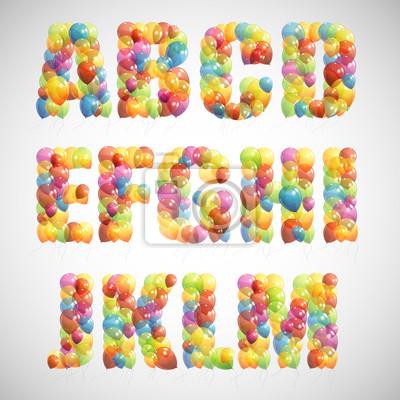 Bild bunten Ballon Alphabet