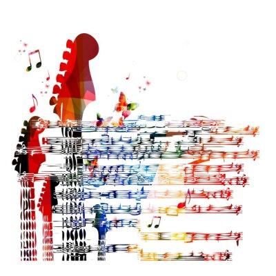 Bild Bunter Musik-Gitarre Hintergrund. Vektor