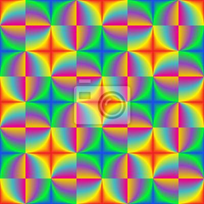 Buntes gemischtes geometrisches nahtloses Muster des Regenbogens.