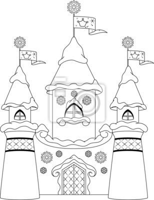 Burg malvorlagen leinwandbilder • bilder Krone, Prinzessin ...