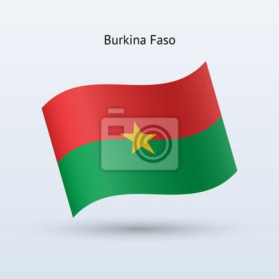 Burkina Faso Fahnenschwingen Form.