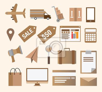 Business-Einzelhandels-und Transportvektor