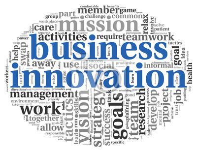 Bild Business-Innovation-Konzept in Wort tag cloud