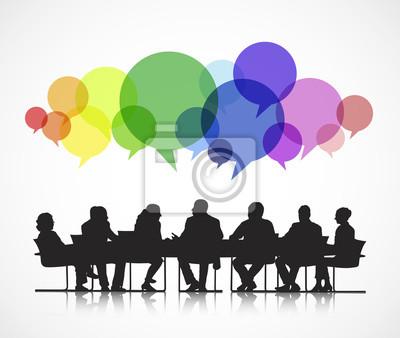 Bild Business Meeting Vektor