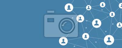 Bild Business-Online-Kommunikation und abstrakte Social Network Connection Konzept