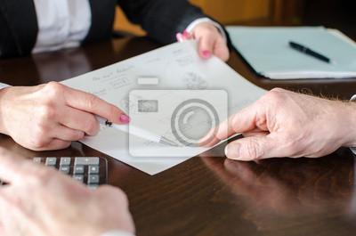 Bild Business people at work