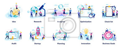 Bild Business people character set. Person in suit
