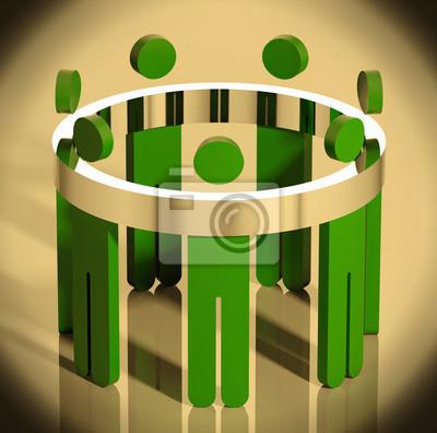 Business-Team Allegorie Illustration.