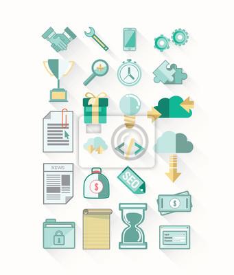 Business-und Technologie-Icons Vektor