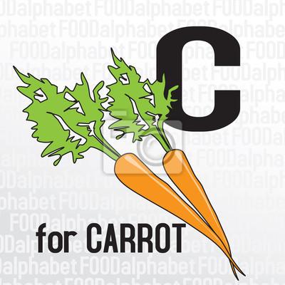 C für Karotten, das Essen Alphabet