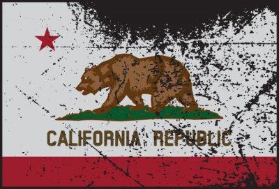 Bild California Flag Grunged