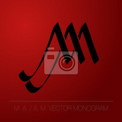 Calligraphic monogram - A. M. - M. A