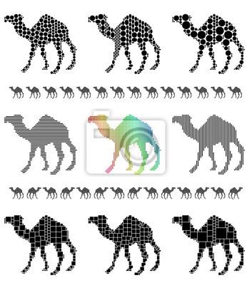 Camel Silhouette Mosaik-Set