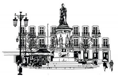Bild Camoes Platz in lissabon
