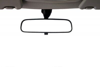 Bild Car Rear view mirror isolated for creative landscape montage