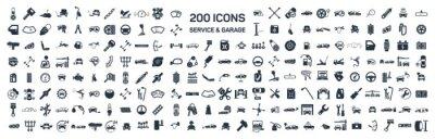 Bild Car Service & Garage 200 isoliert Symbole auf weißem Hintergrund,