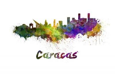 Bild Caracas-Skyline im Aquarell