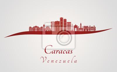 Bild Caracas V2 Skyline in rot