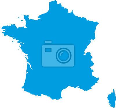 Bild Carte de France vectorielle