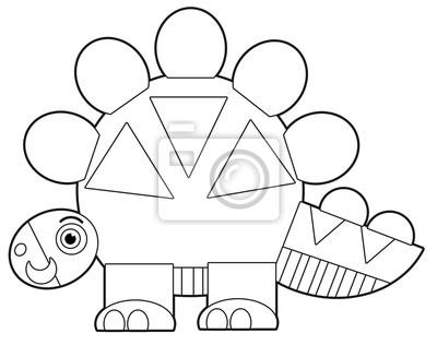 Bild Cartoon Dinosaurier Malvorlagen Illustration Für Die Kinder