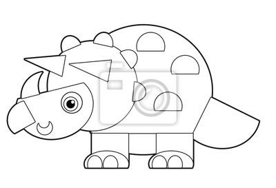 Cartoon Dinosaurier Malvorlagen Illustration Für Die