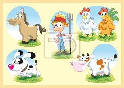 Cartoon Farm Family