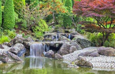 Bild Cascade Wasserfall im japanischen Garten in Bonn