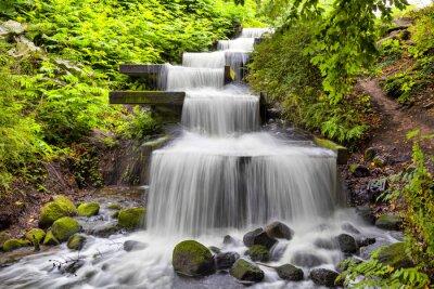 Bild Cascade Wasserfall im Park Planten un Blomen in Hamburg
