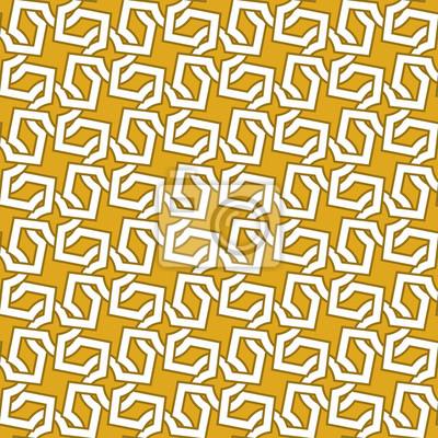 Celtic Kettenhemd. Nahtlose Muster von sich kreuzenden Goldkreuzen mit Farbfeld für die Füllung. Fashion geometrischen Hintergrund für Web oder Print-Design.