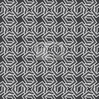 Bild Celtic Kettenhemd. Nahtlose Muster von sich kreuzenden Kreuzungen mit Farbfeld für die Füllung. Fashion geometrischen Hintergrund für Web oder Print-Design.