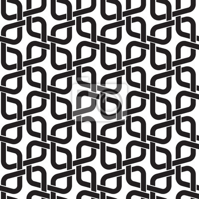 Bild Celtic seamless pattern with swatch for filling. Fashion geometric background of black lines.