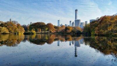 Bild Central Park fallen Landschaft Reflexion in New York City