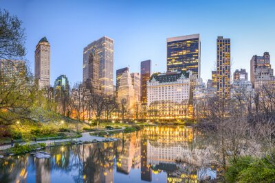 Bild Central Park in New York City in der Abenddämmerung