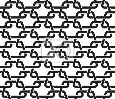 Chain mail of the links in form of trapezes. Celtic seamless pattern with swatch for filling. Fashion geometric background for web and tattoo design.