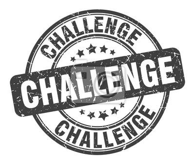 Bild challenge stamp. challenge round grunge sign. challenge