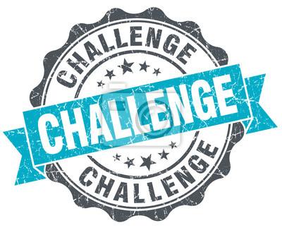 Bild challenge vintage turquoise seal isolated on white