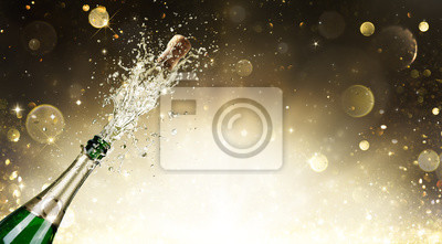 Bild Champagner Explosion - Feier Neujahr