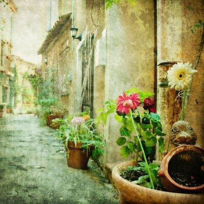 Bild charmanten Innenhöfe, Retro-Stil Bild