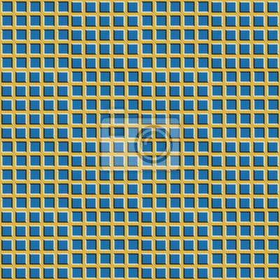 Checkered Hintergrund mit optischer Täuschung der Bewegung. Konvexe Quadrate bewegen sich visuell in entgegengesetzte Richtungen. Optische Täuschung nahtlose Tapete.