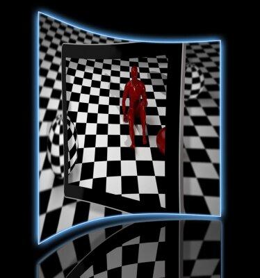 Checkered Kunst Zusammensetzung