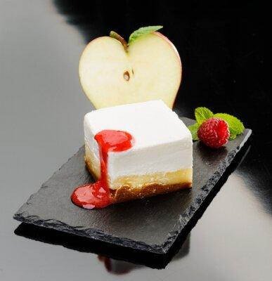 Bild Cheesecake con mela e Mousse di lampone