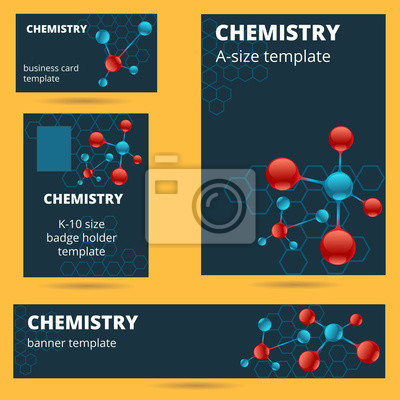 Chemie Molekül Atomthema Visitenkarte Abzeichen