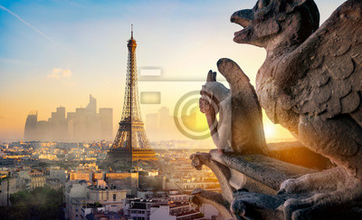 Bild Chimera and Eiffel Tower