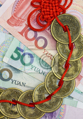 Chinas Geld Und Feng Shui Münzen Leinwandbilder Bilder