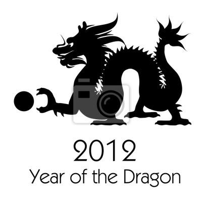 Chinese new year of the dragon 2012 clip-art leinwandbilder • bilder ...
