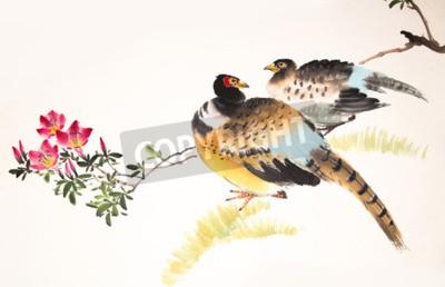 Bild Chinesische Malerei Vogel und Pflanze