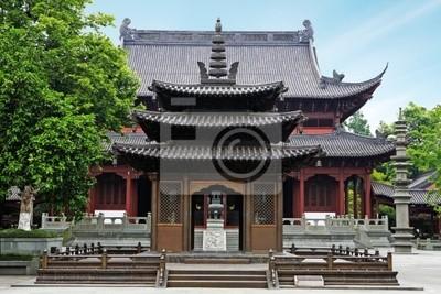chinesische traditionelle Bausubstanz in einem Tempel.
