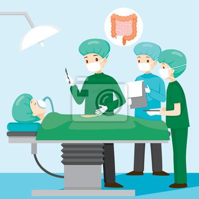 Chirurg operieren bei appendizitis patient, appendix, interne ...
